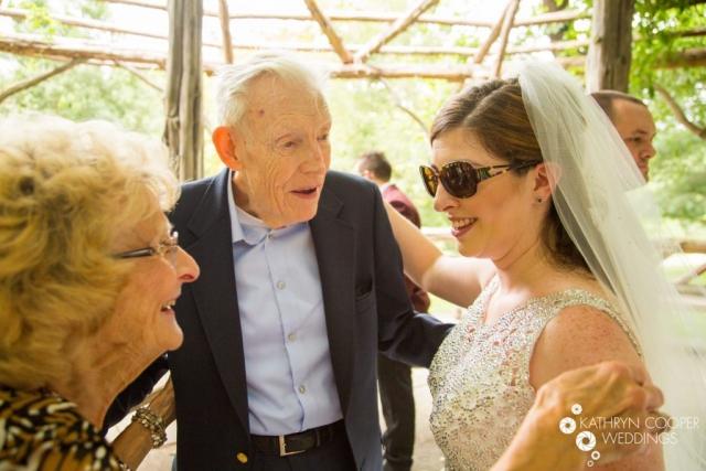 Grandparents at wedding New York elopement photographer Kathryn Cooper
