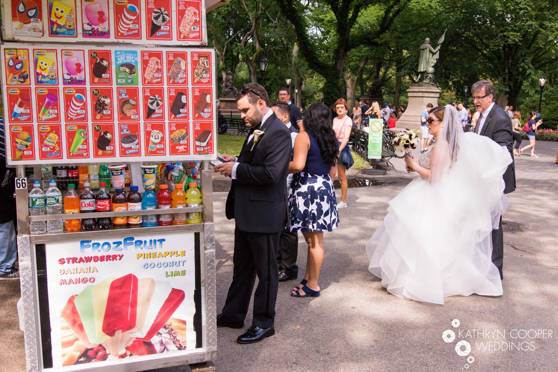 Funny wedding images Central Park wedding photographer www.KathrynCooperWeddings.com