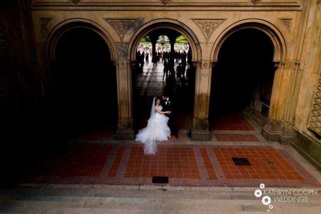 Bethesda Terrace Arcade wedding photos - Kathryn Cooper Weddings