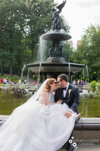 Bethesda Fountain elopement photography