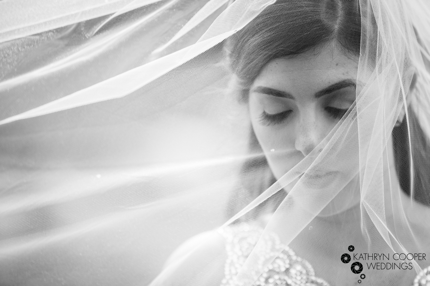 Black and white veil shot nyc elopement photographer Katherine cooper
