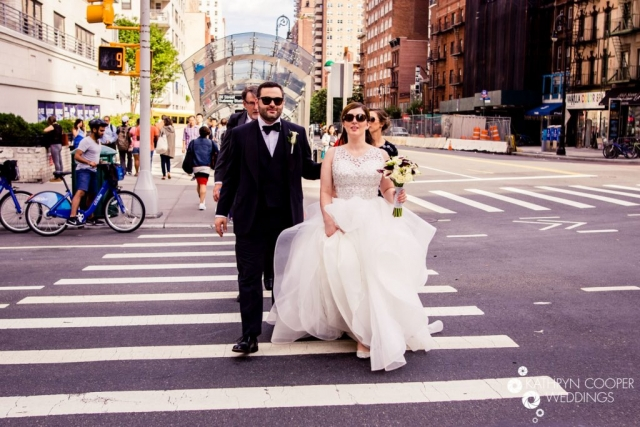 Street style wedding photos by NYC elopement photographer Citibike