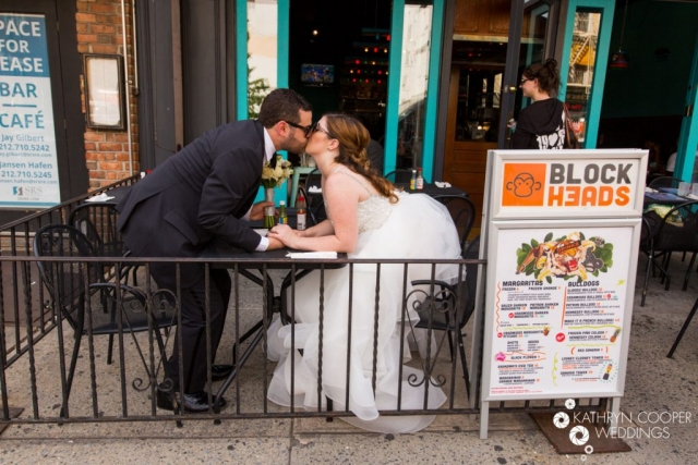 Blockheads elopement Blockheads wedding mexican food