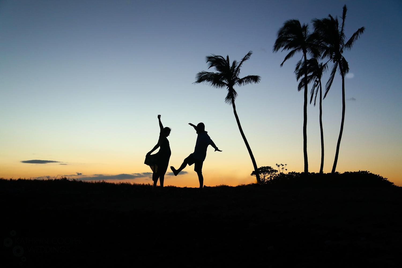 Hawaii sunset wedding photos on Big Island Kathryn Cooper Weddings