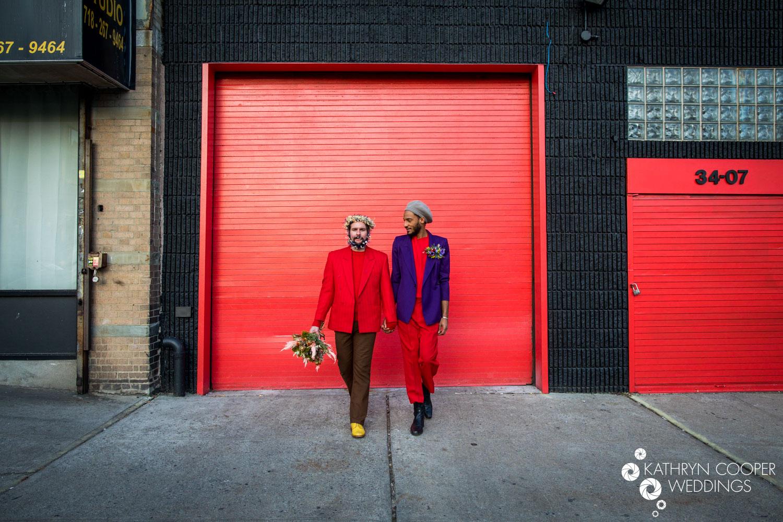 Gay wedding ideas - flower beards by NY wedding photographer www.KathrynCooperWeddings.com