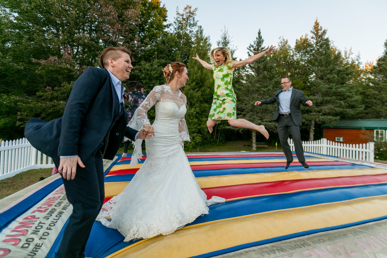 lgbt wedding maine camping wedding photographer