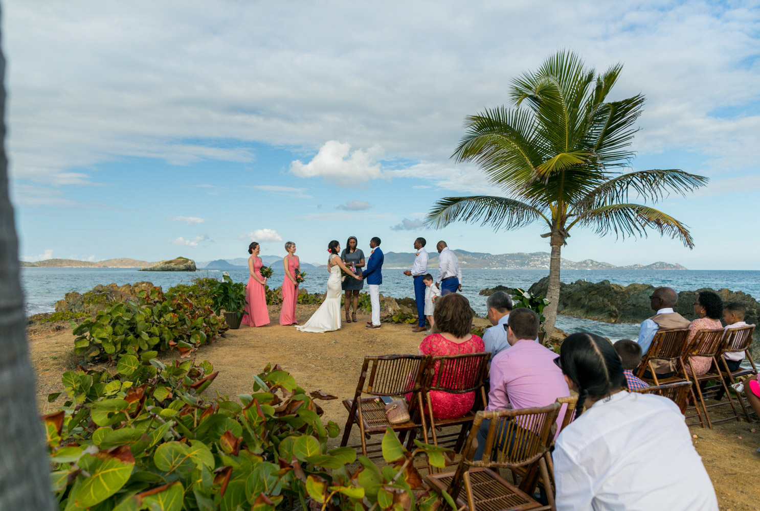 St. Thomas wedding on the beach