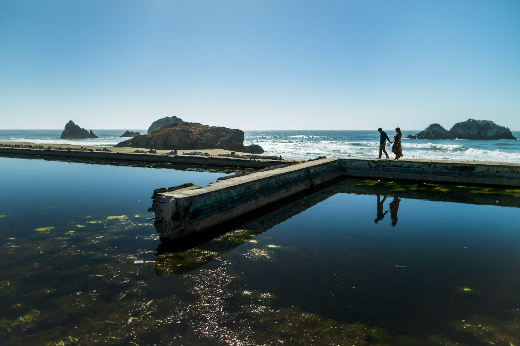 Sunset Sutro Baths SF - Kathryn Cooper Weddings
