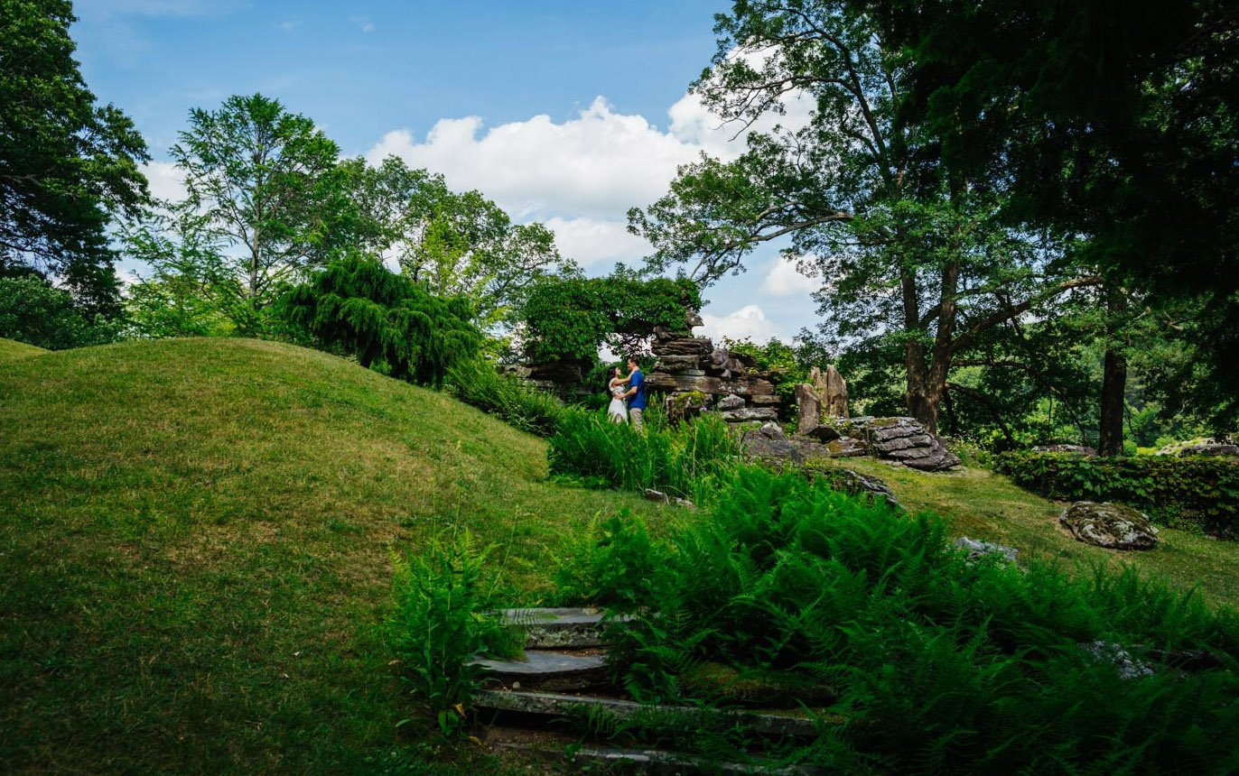 Innisfree garden engagement photos visit upstate NY Kathryn Cooper