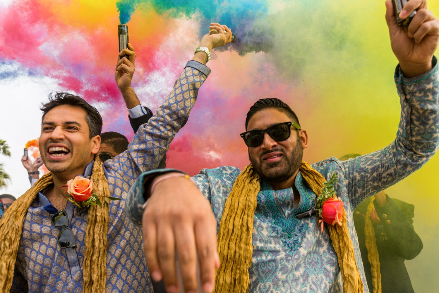 What's a baraat? Colorful baraat wedding photography